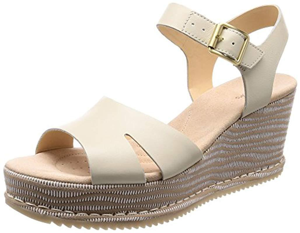 57cf0c8583030c Clarks Akilah Eden Ankle Strap Sandals in White - Save ...