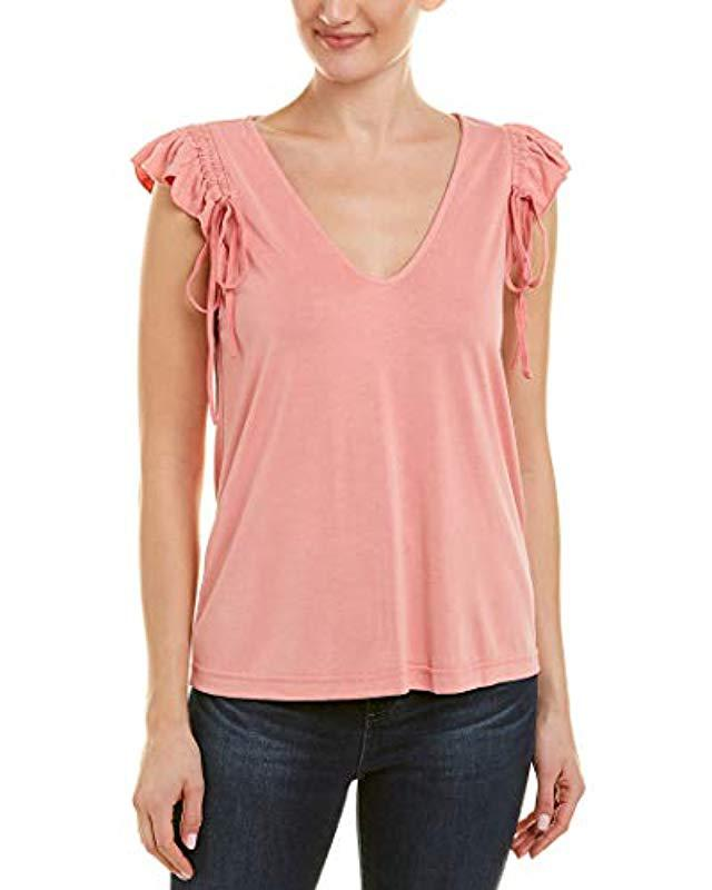 6fac388eff0e2b Lyst - Ella Moss Drawcord Sleeve Tee in Pink - Save 71%
