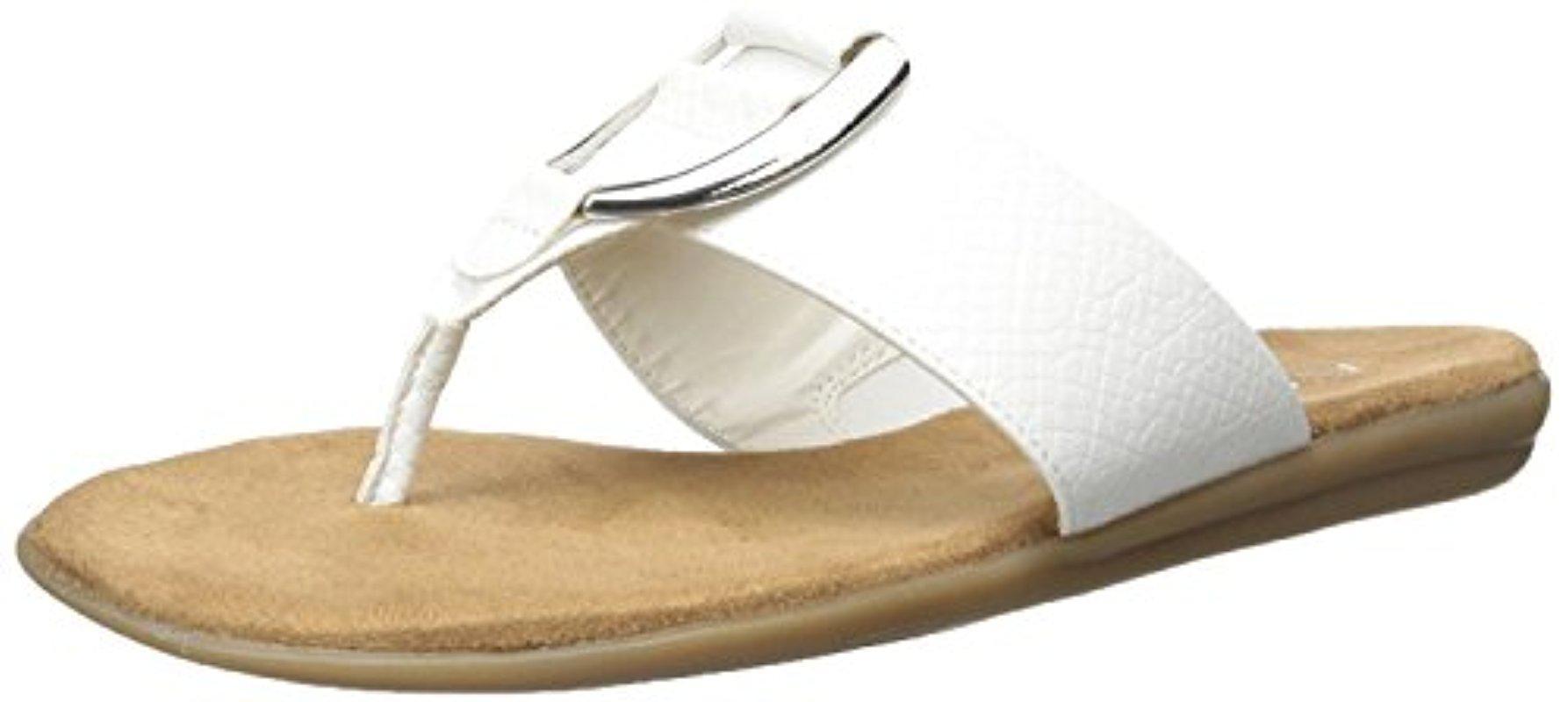 e26bfa31f385cd Lyst - Aerosoles Nice Save Flip Flop in White