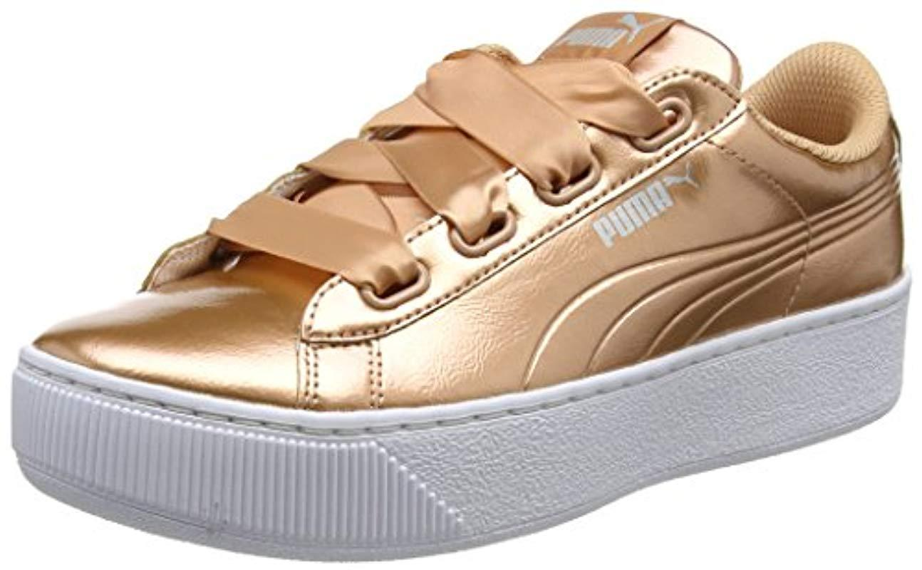 e218f444b292 PUMA Vikky Platform Ribbon P Low-top Sneakers - Save 42% - Lyst