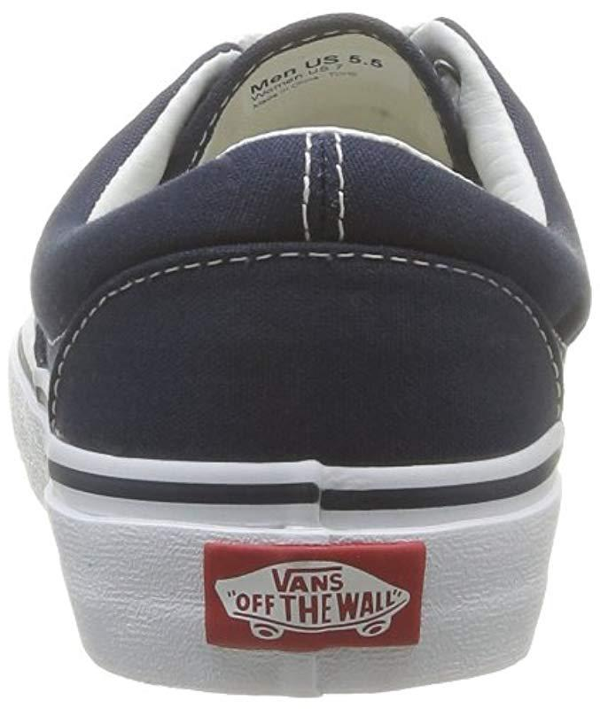 1a00537f52 Vans Unisex Adults  Era Classic Canvas Low-top Trainers in Blue for Men -  Lyst