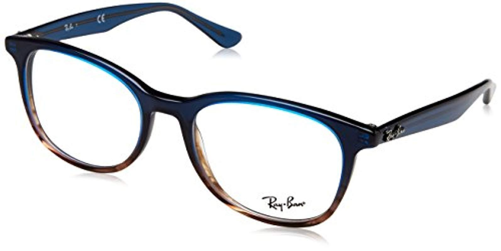 723fd20458 Ray-Ban  s 0rx 5356 5765 54 Optical Frames Gradient Blue On Striped ...