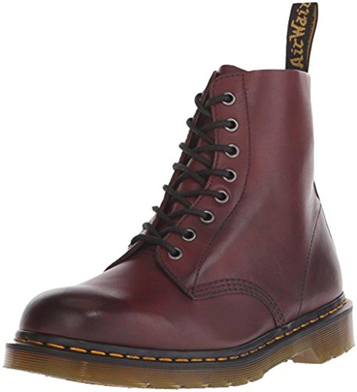 Dr. Martens. Women's Red Pascal Leather Combat Boot