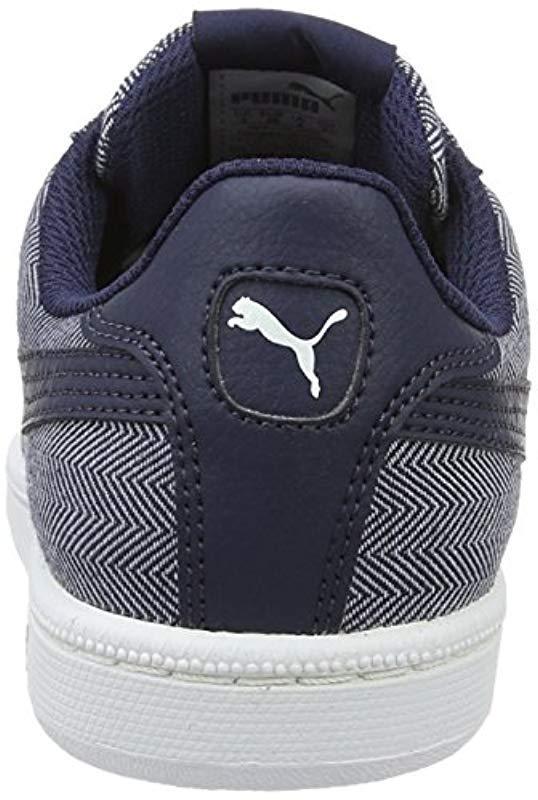 PUMA - Blue Unisex Adults Smash Herringbone Low-top Sneakers for Men -  Lyst. View fullscreen ee209d1cd