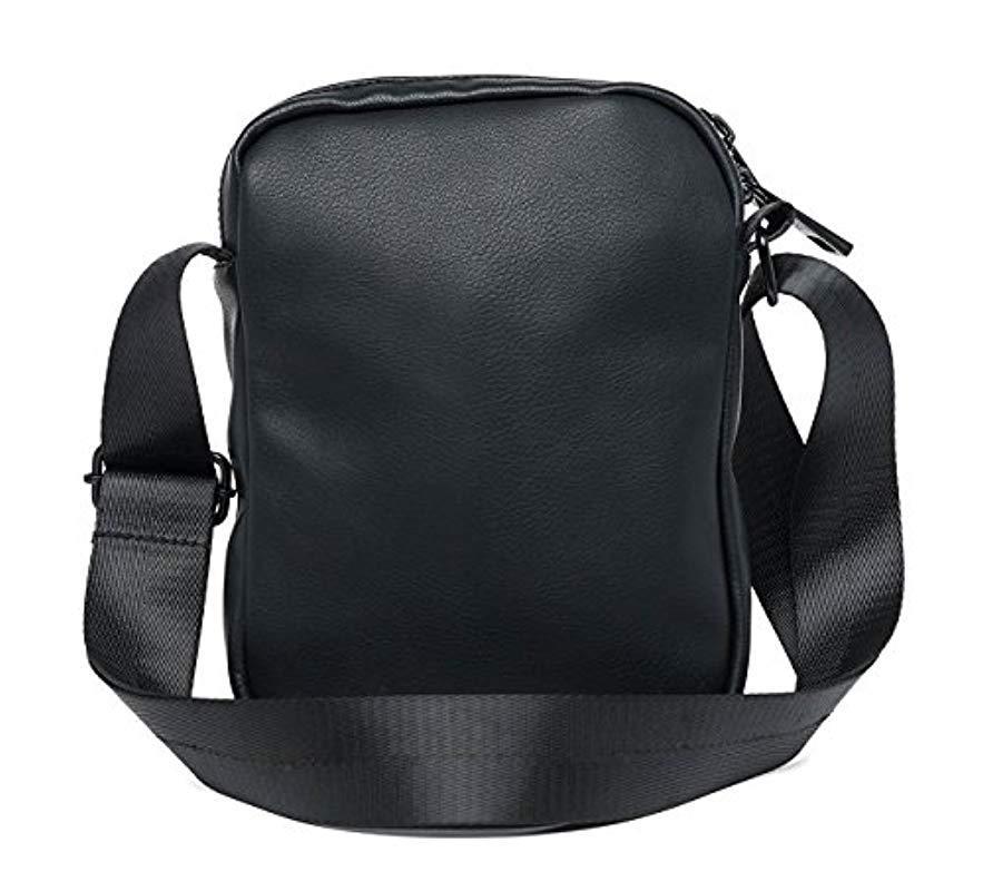 b4e3e62c637a Replay Matt Eco-leather Cross-body Bag in Black for Men - Lyst