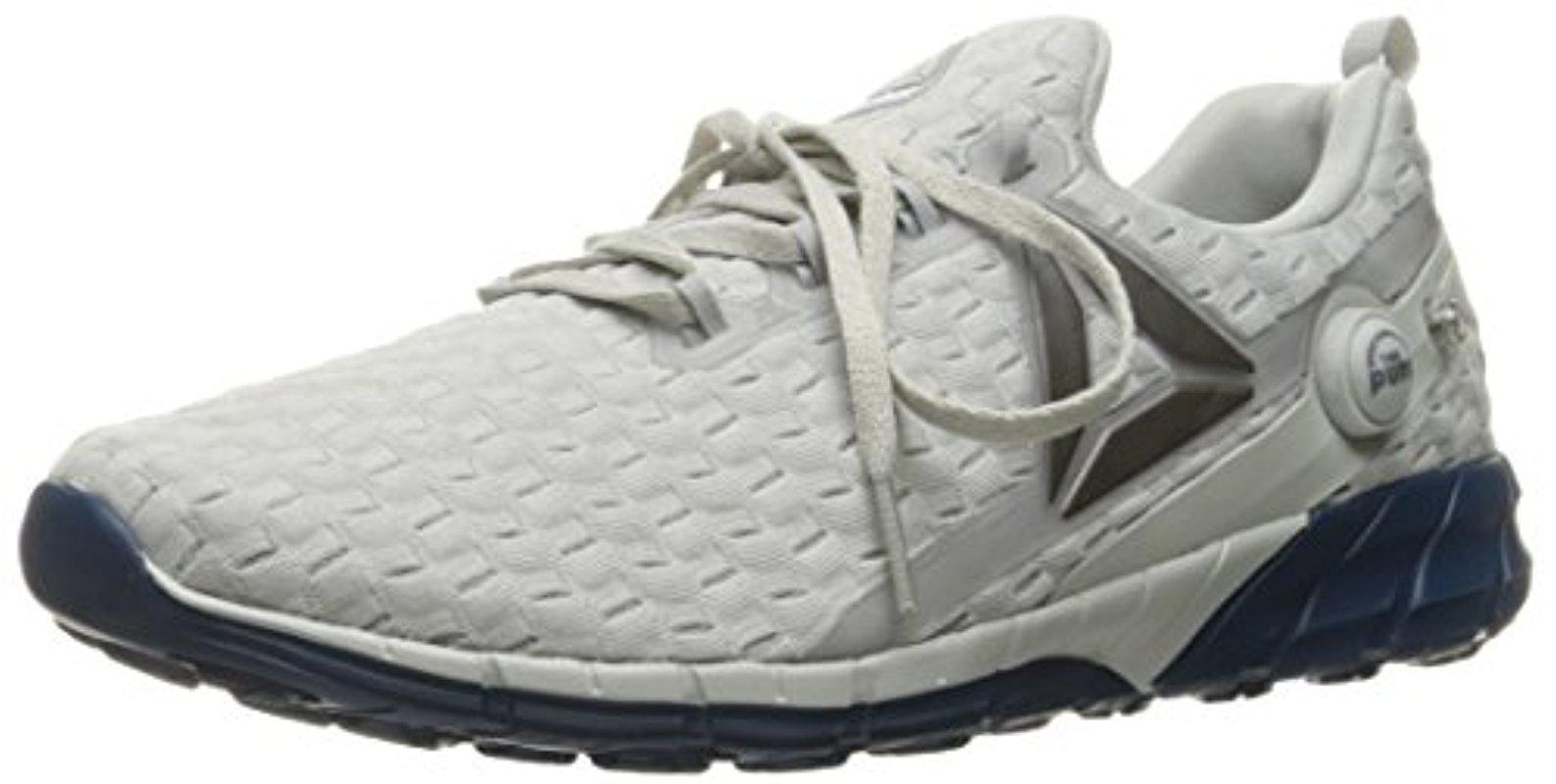 Reebok Mens Gray Zpump Fusion 25 Vp Running Shoe