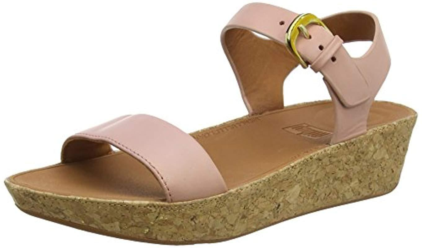 95cd3823e327d Fitflop Bon Ii Back-strap Leather Open Toe Sandals in Pink - Lyst