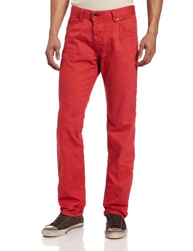 e0c72854 DIESEL Darron Regular Slim Tapered-leg Jean 008qu in Red for Men - Lyst