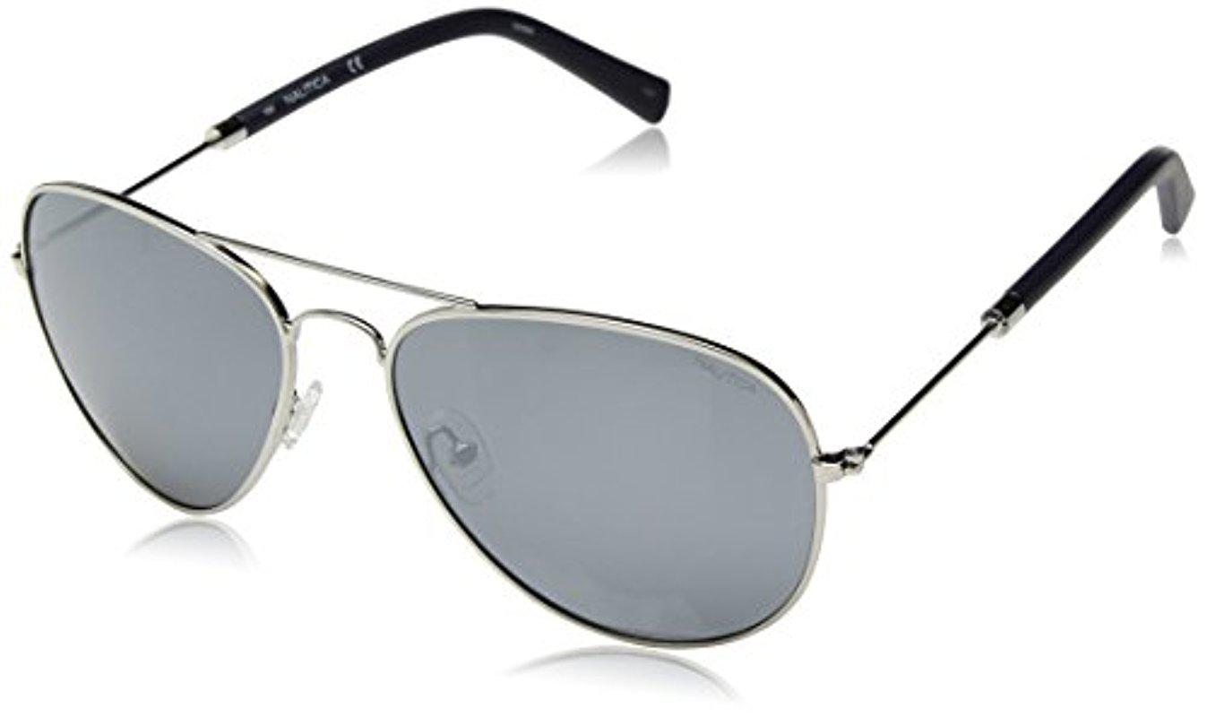 a600135be4 Lyst - Nautica N4631sp Polarized Aviator Sunglasses