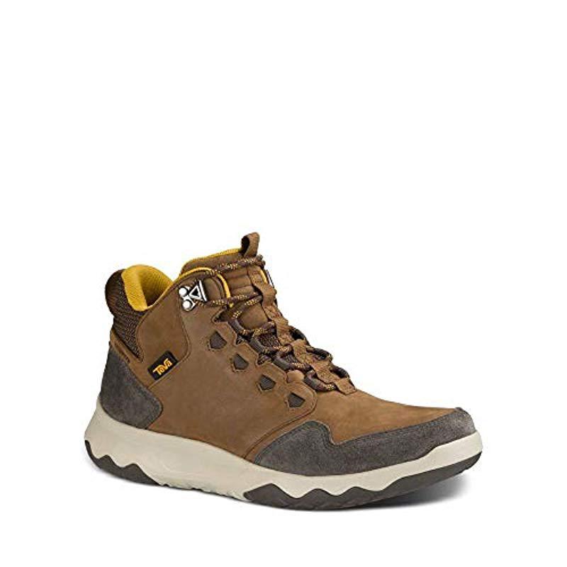 5be1b265e5ba Teva - Brown M Arrowood Lux Mid Waterproof Hiking Boot for Men - Lyst. View  fullscreen