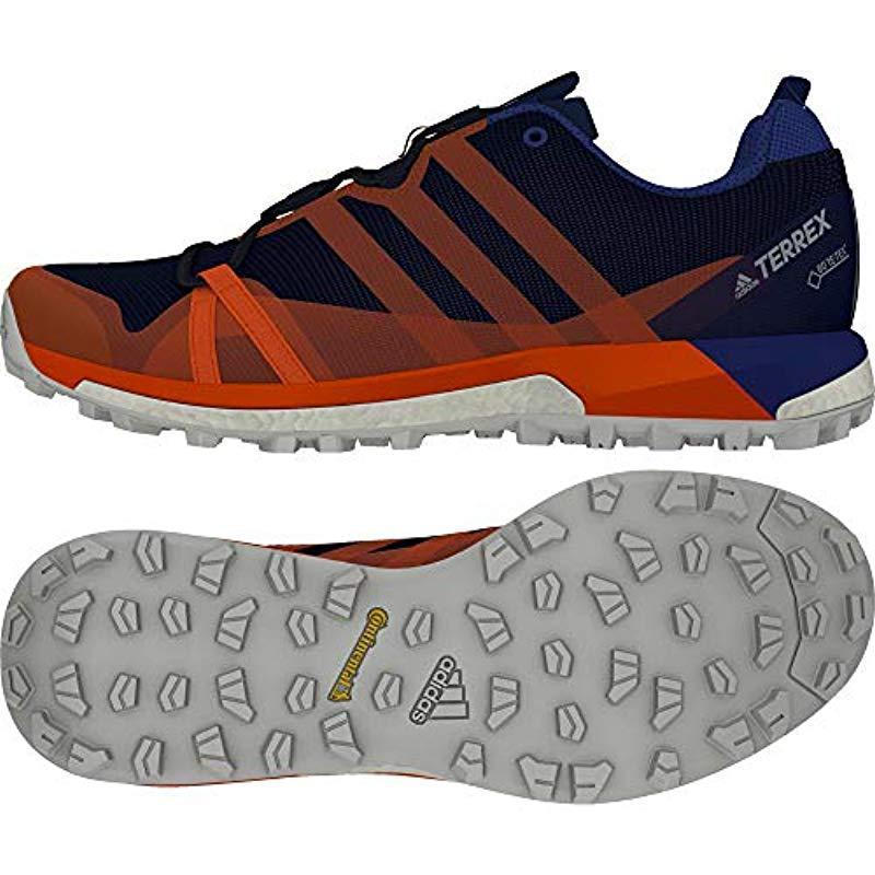adb4fb0376908 Adidas - Blue Terrex Agravic Gtx Trail Running Shoes Black for Men - Lyst