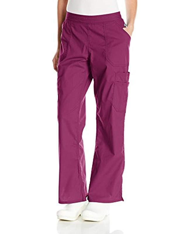 e665843faf8 Dickies. Women's Purple Eds Signature Stretch Mid-rise Moderate Flare Leg  ...