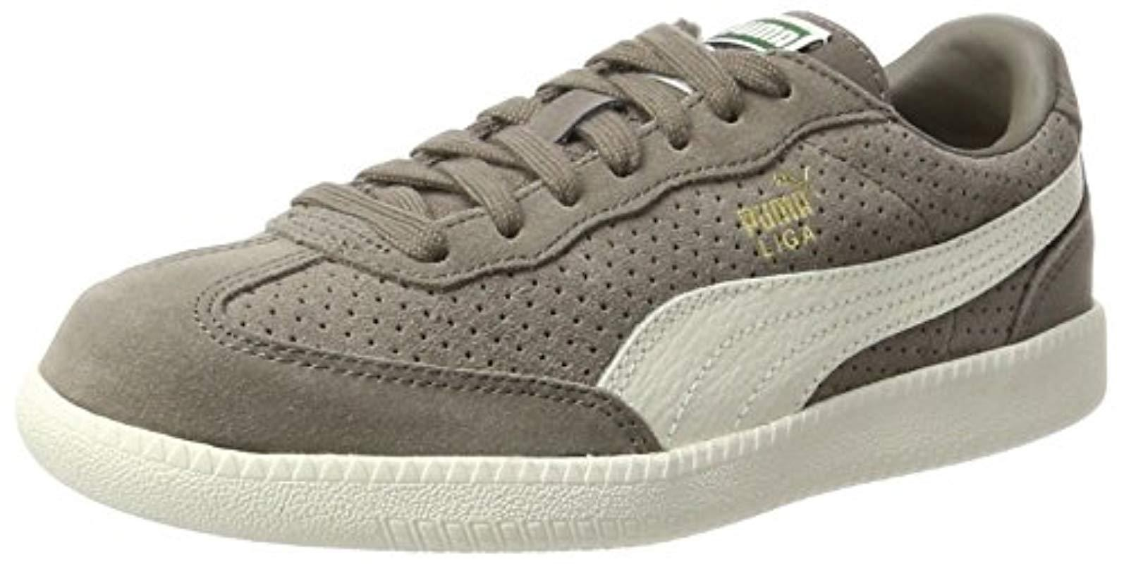 653021205db7 PUMA. Natural Unisex Adults  Liga Suede Perf Trainers