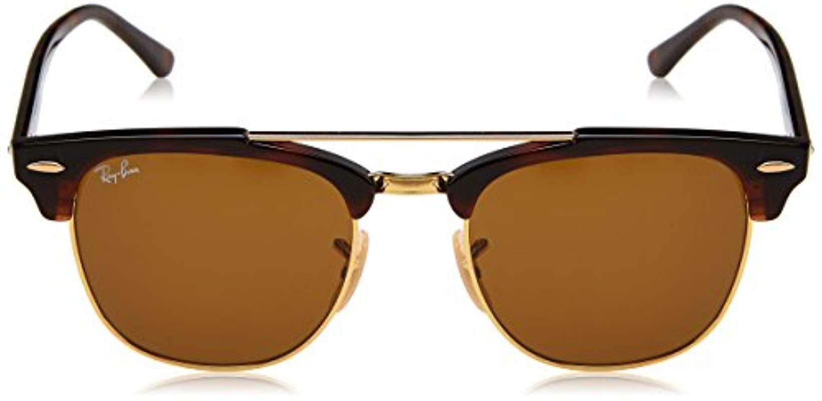 05523ce6f90 Ray-Ban - Clubmaster Double Bridge Sunglasses In Havana Brown Rb3816 990 33  51. View fullscreen