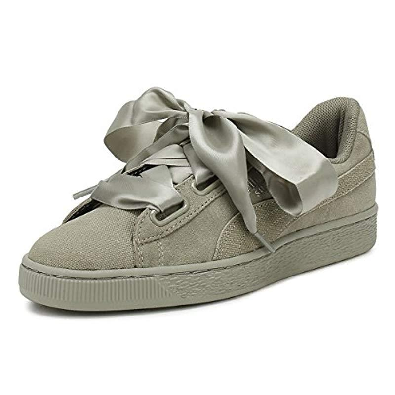 PUMA Womens Rock Grey Heart Pebble Suede Trainers in Gray - Save 58 ... 368b0319d