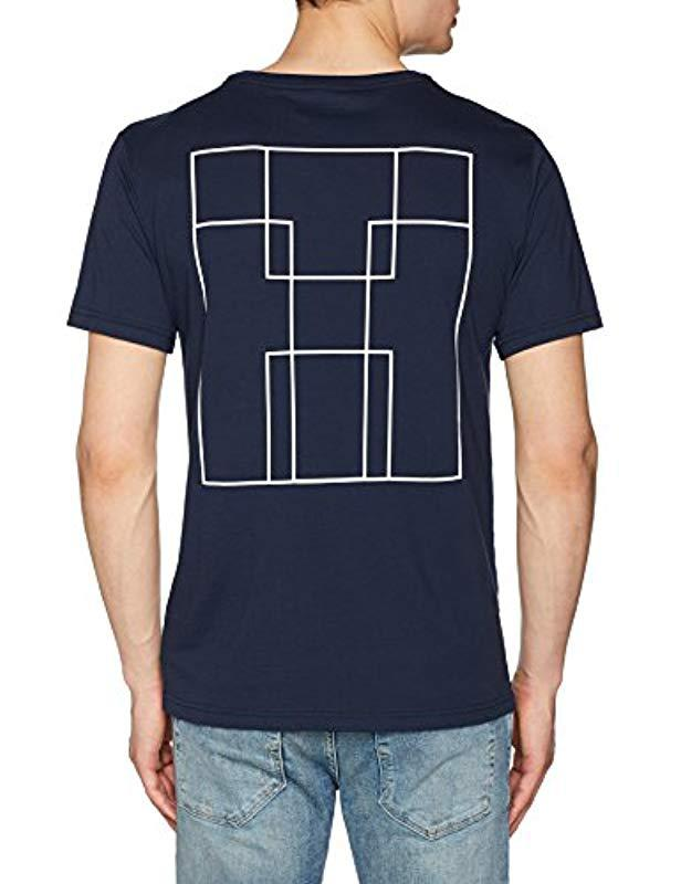 3eabd15eb06f2 Tommy Hilfiger Cn Tee Ss Logo Pyjama Top in Blue for Men - Lyst