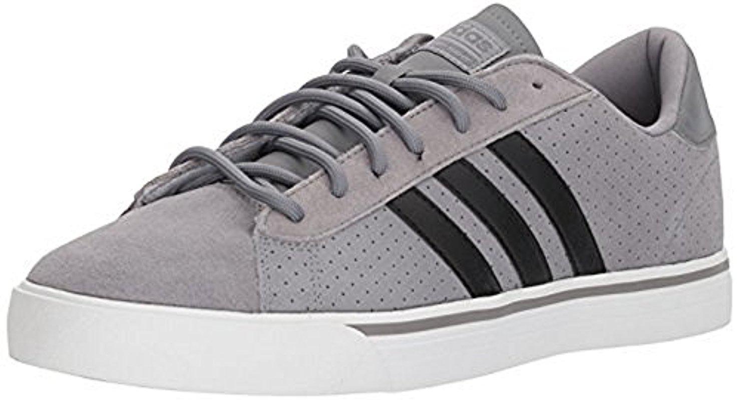 detailed look 0ef8a f50bf Lyst - Adidas Cloudfoam Super Daily Leather Grey Three black grey ...