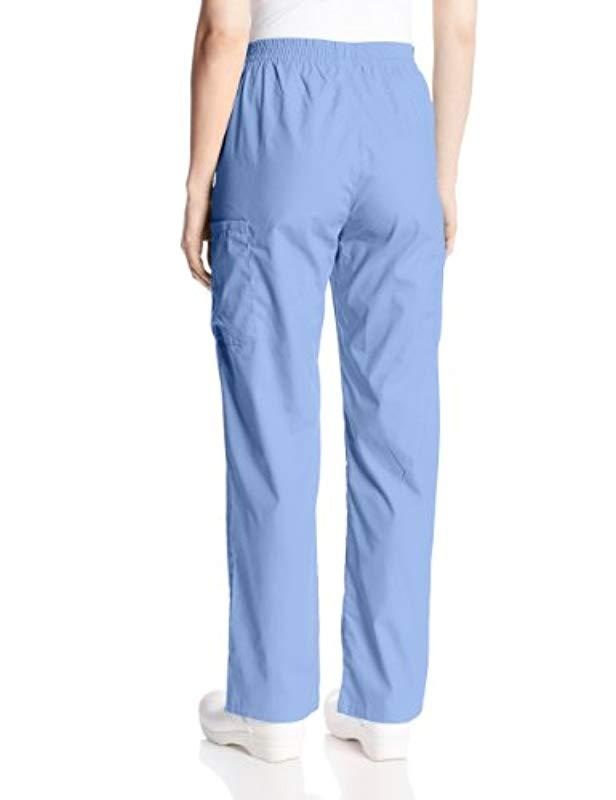 97760270a06 Lyst - Dickies Tall Size Signature Elastic Waist Scrubs Pant in Blue