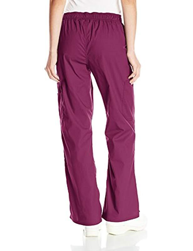 4898c0bfabd Lyst - Dickies Eds Signature Stretch Mid-rise Moderate Flare Leg Pull-on  Pant-petite in Purple