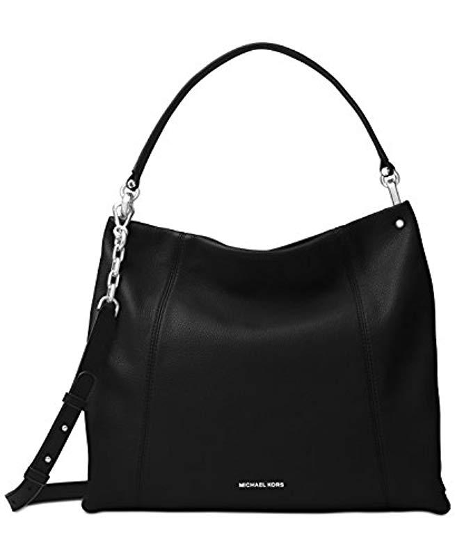 216b077bdbb6 Michael Kors Lex Messenger Bag in Black - Lyst
