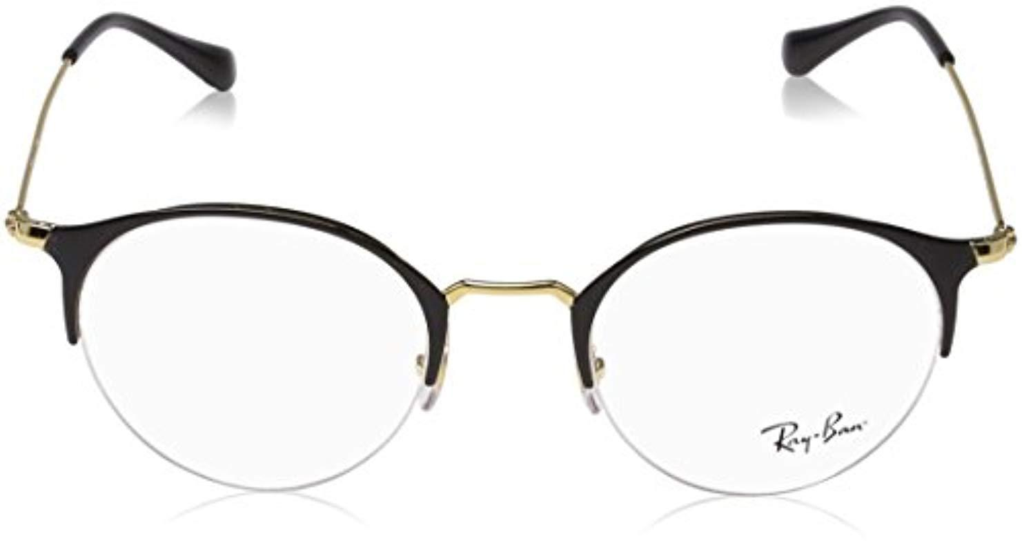 bf113f06d49e Tap to visit site. Ray-Ban - Metallic Rx3578v Glasses In Gold Shiny Brown  Rx3578v 2905 ...