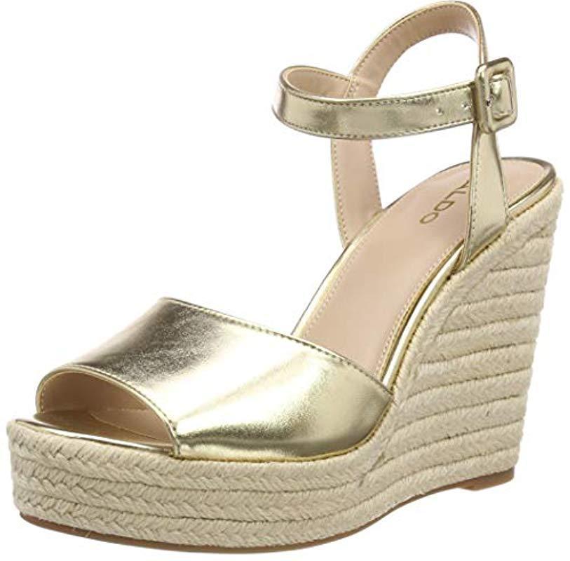 8a035eefb ALDO Ybelani Ankle Strap Sandals in Metallic - Lyst