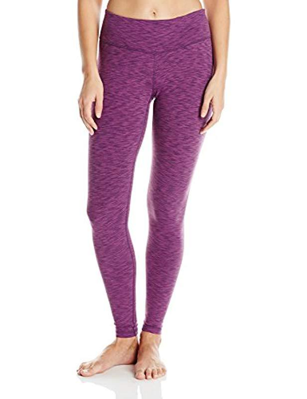 58d3089bda0db Lyst - Danskin Supplex Ankle Legging With Wide Waistband in Purple