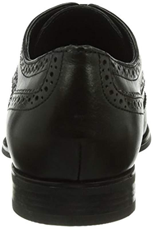 f95f9ede02c46 Geox U Albert 2fit B Brogue Lace-up Half Shoe in Black for Men - Lyst