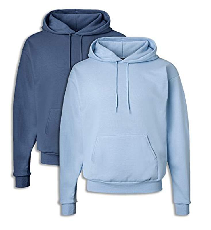 b04bae7656d2 Lyst - Hanes Pullover Ecosmart Fleece Hooded Sweatshirt in Blue for Men