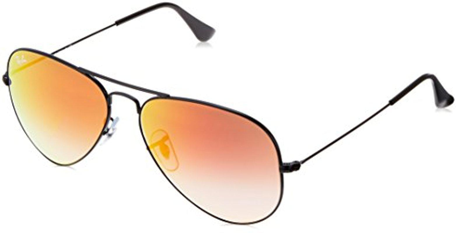 b027a483658 Lyst - Ray-Ban 3025 Aviator Large Metal Mirrored Non-polarized ...