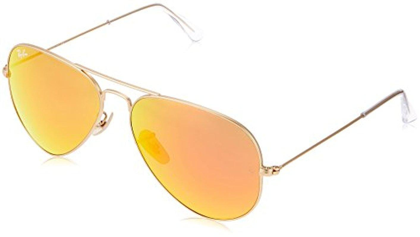 896f7cc4bf Lyst - Ray-Ban Aviator Large Metal - Matte Gold Frame Crystal Brown ...