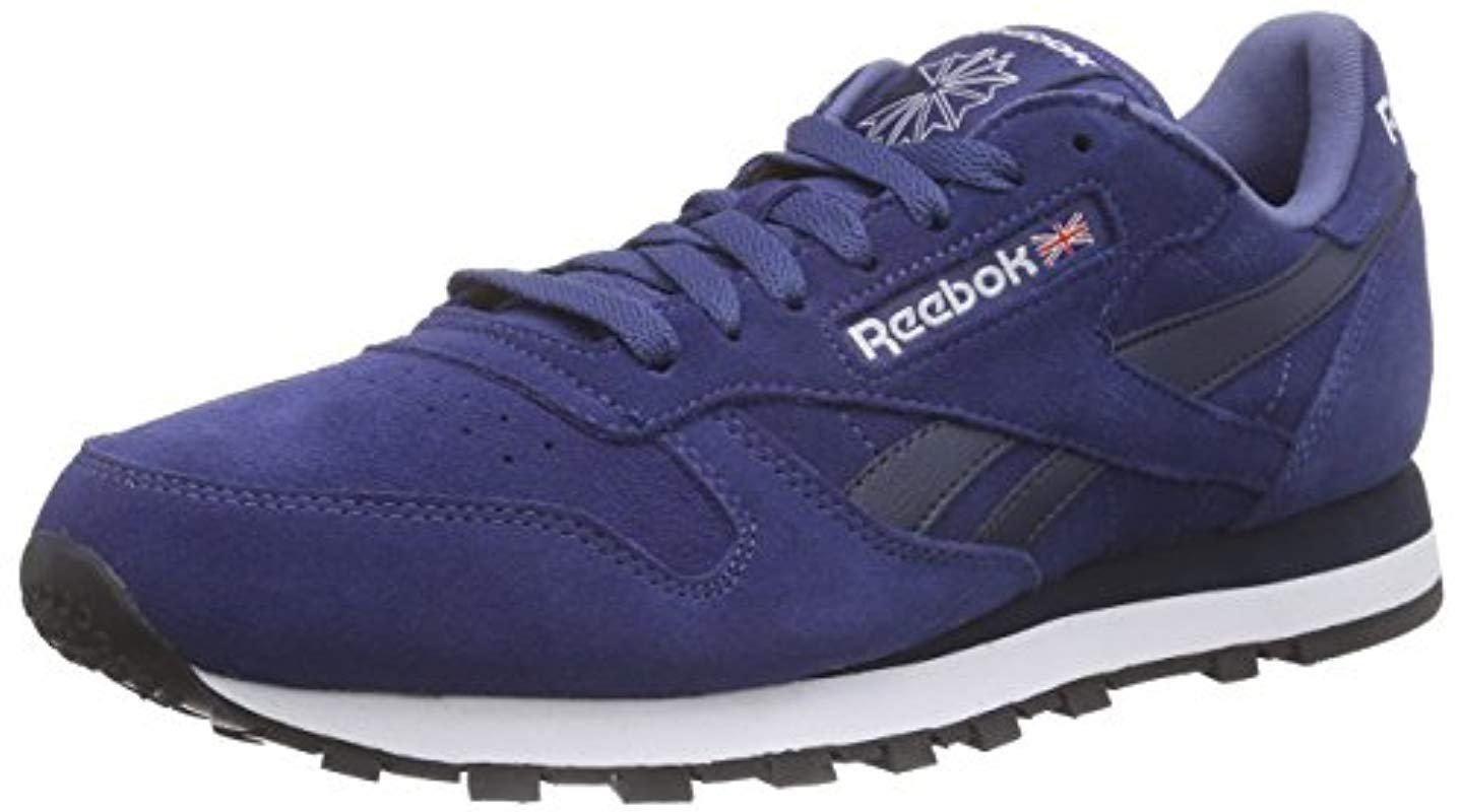 Reebok - Blue  s Classic Leather Suede Running Shoes for Men - Lyst. View  fullscreen 40111b802