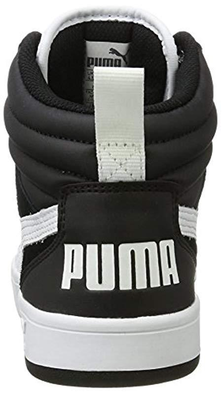 c2cb9600959a9f PUMA - Black Unisex Adults  Rebound Street V2 Hi-top Trainers for Men -.  View fullscreen