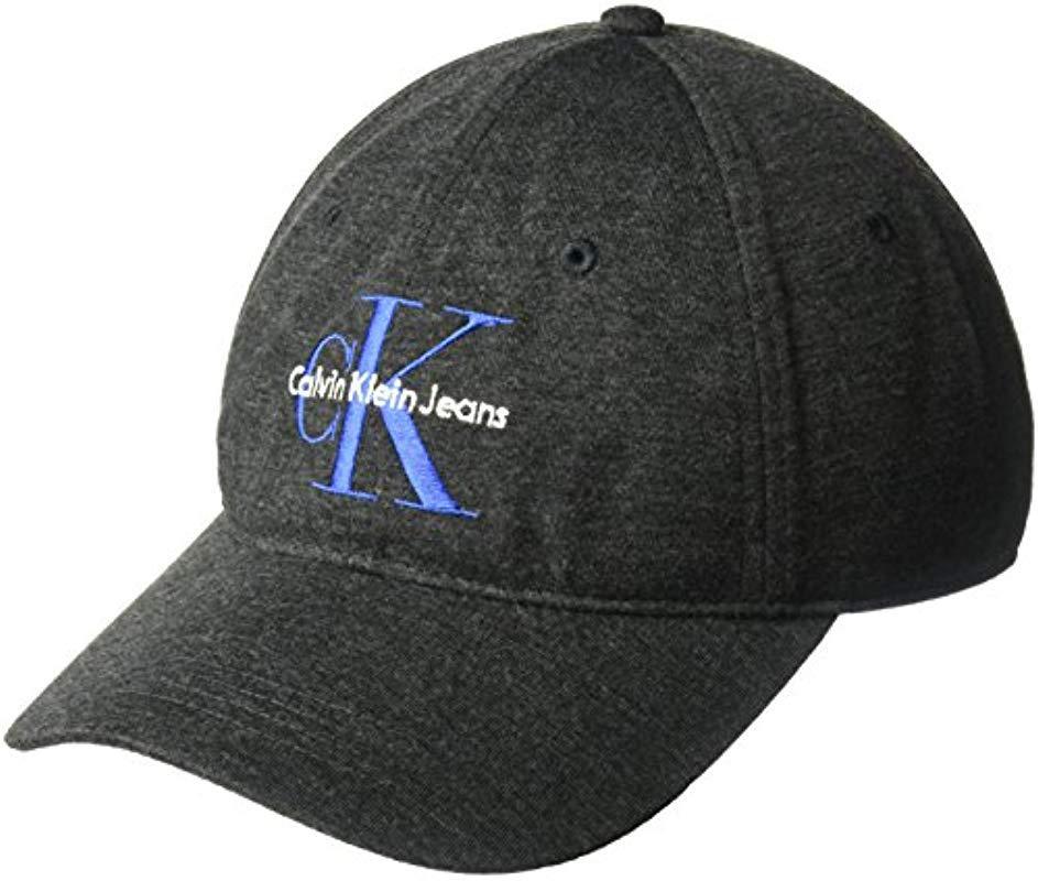 0d2c1cda2c28c Lyst - Calvin Klein Embroidered Monogram Logo Baseball Dad Hat for Men