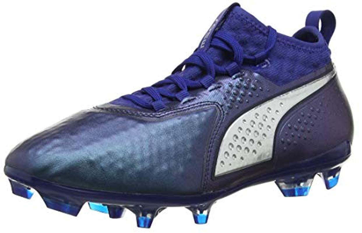 2729354e257d PUMA One 2 Lth Fg Footbal Shoes in Blue for Men - Lyst