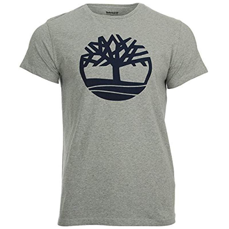 Tree & Linear T Shirt Timberland Mens Ss Kennebec River