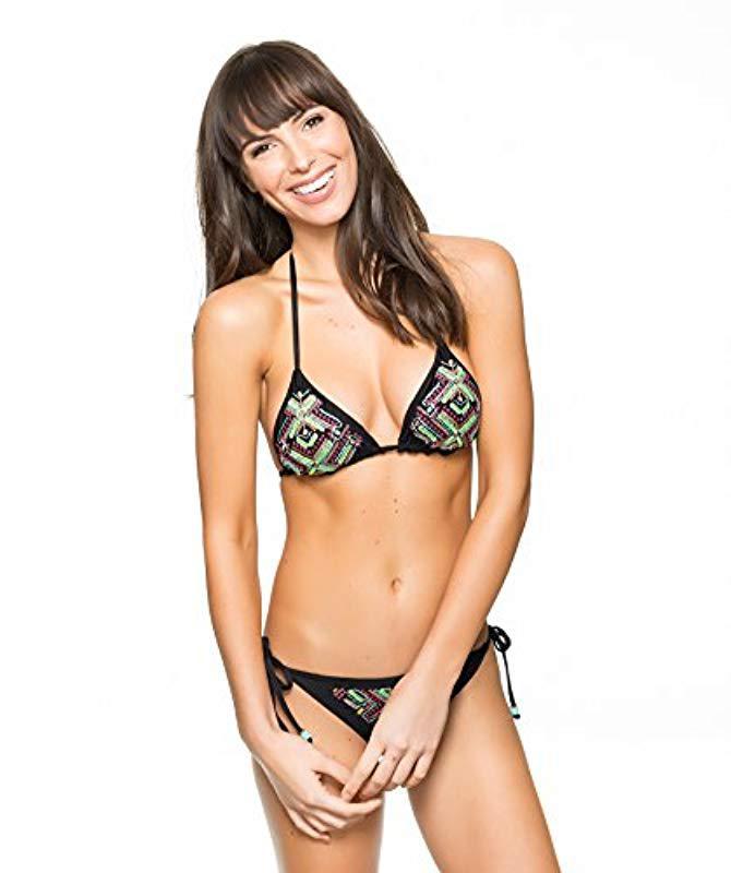 68f3ceb5c4 Lyst - Ella Moss Triangle Swimsuit Bikini Top in Black