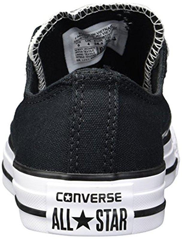 9262d0486de7f0 Lyst - Converse Double Tongue Floral Low Top Sneaker in Black