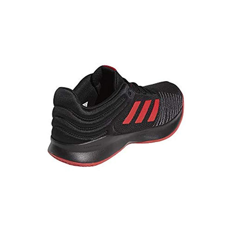 Adidas Pro Spark 2018 Low Basketball Shoes in Black for Men - Lyst 18174d9cb16d5