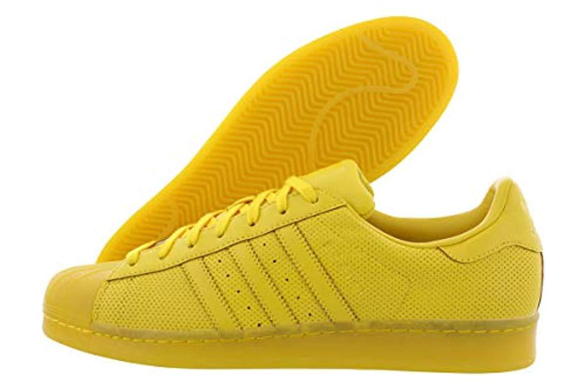 salida de fábrica clásico diseño superior Adidas Originals - Yellow Superstar Adicolor Running Shoe for Men - Lyst