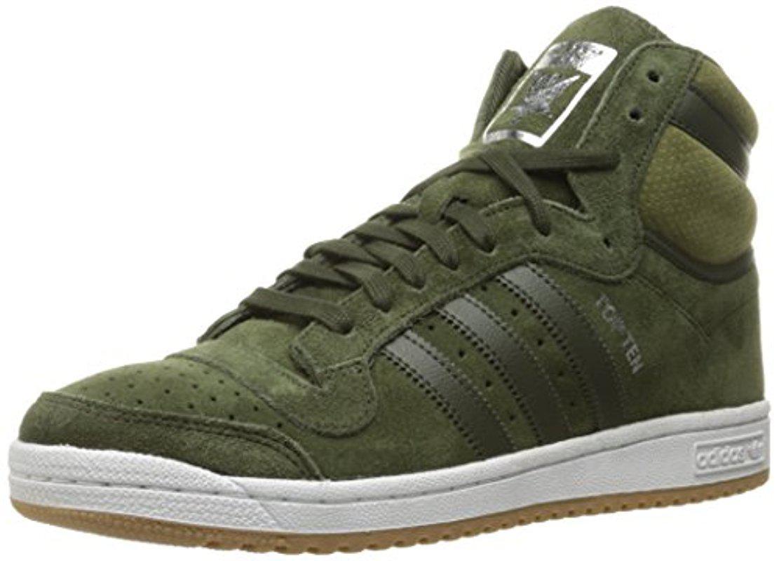 5e738ce45f Lyst - adidas Originals Adidas Top Ten Hi Fashion Sneaker in Green ...