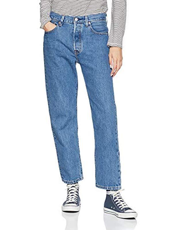 acfd6688 Levi's 501 Crop Boyfriend Jeans in Blue - Lyst