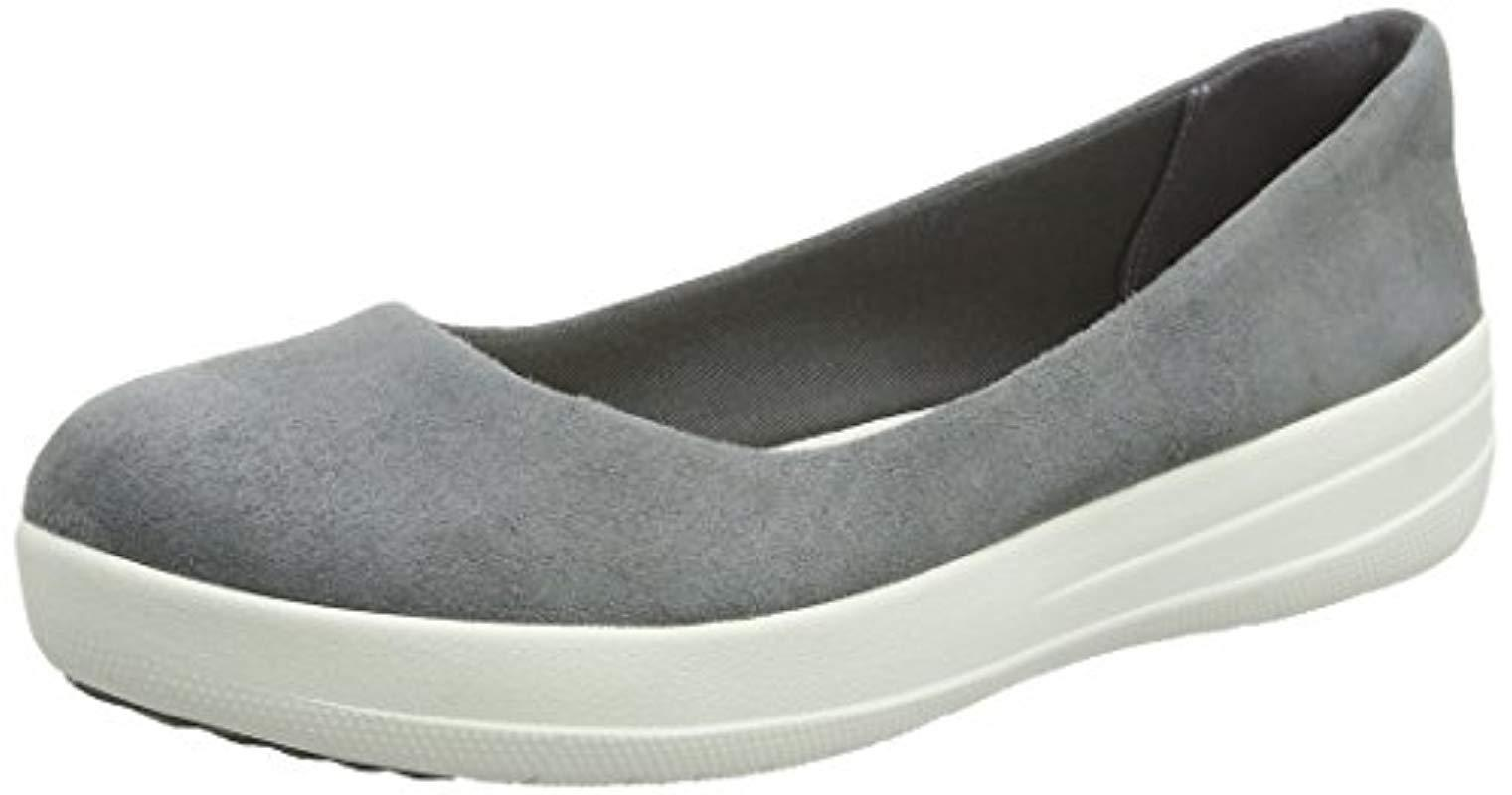 6f7999a2c0592c Fitflop F-sporty Ballerina Ballet Flats in Gray - Lyst