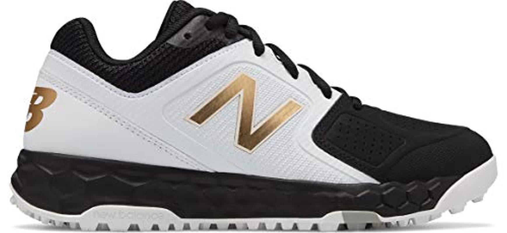 7be482652 Lyst - New Balance Velo V1 Turf Softball Shoe Black white 6 D Us in ...