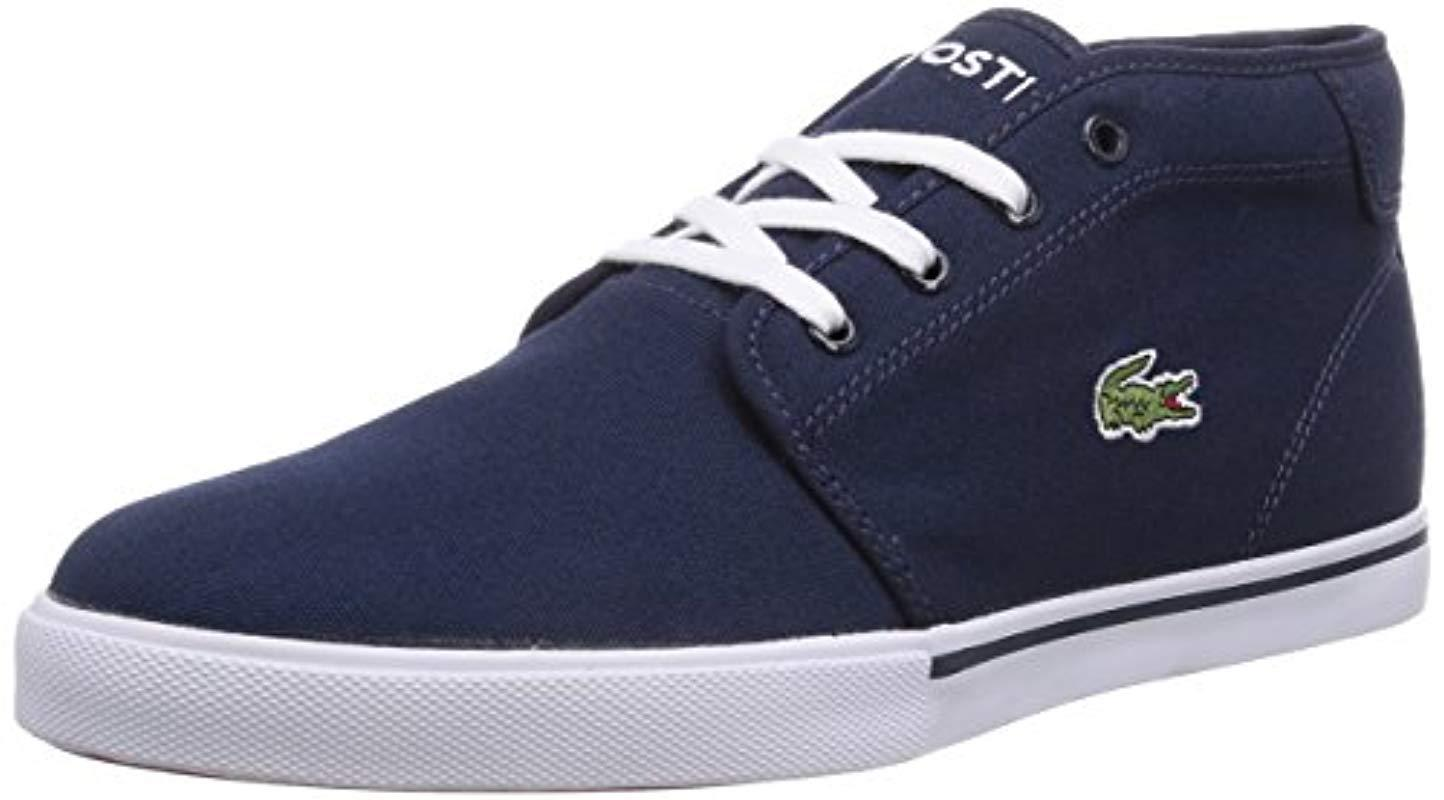 40d6225fee394 Lacoste Ampthill Lcr2, Hi-top Sneakers in Blue for Men - Lyst