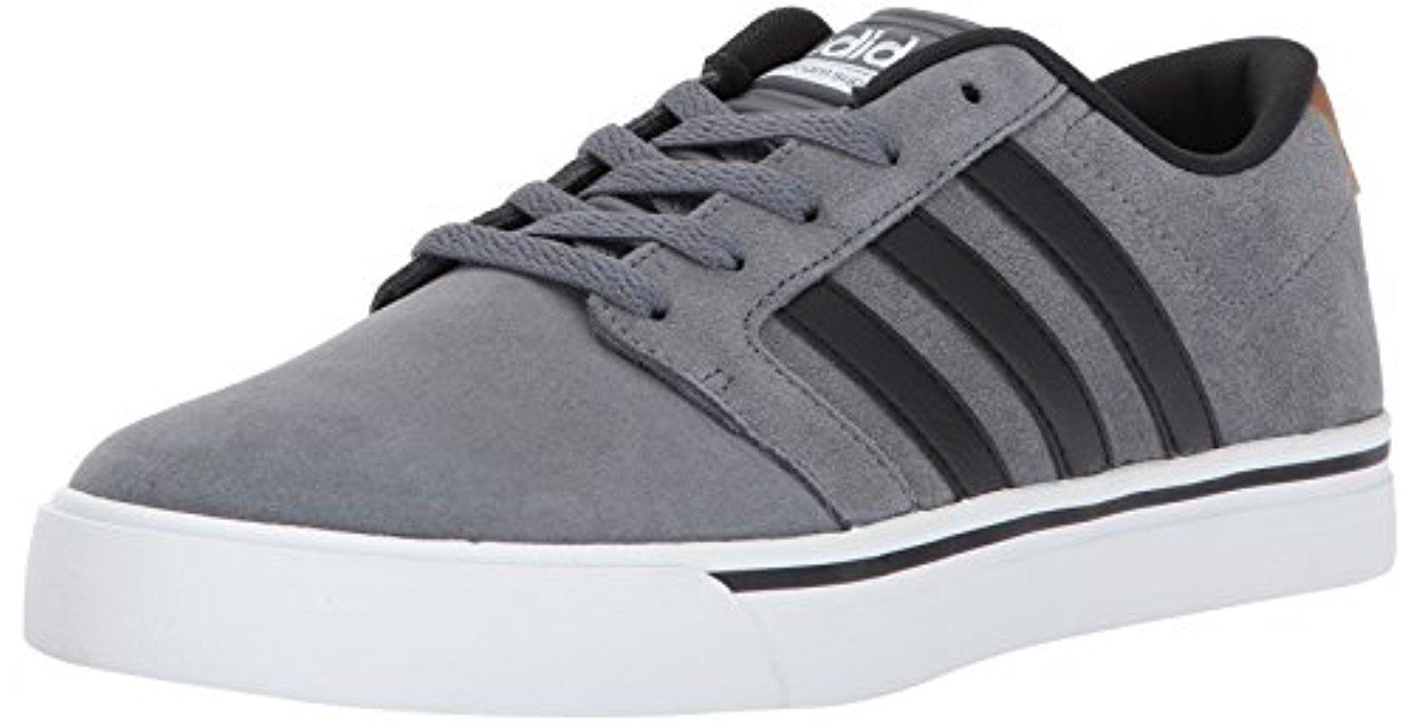 lyst adidas neo di super pattinare scarpa, grey 4 / nero / legno