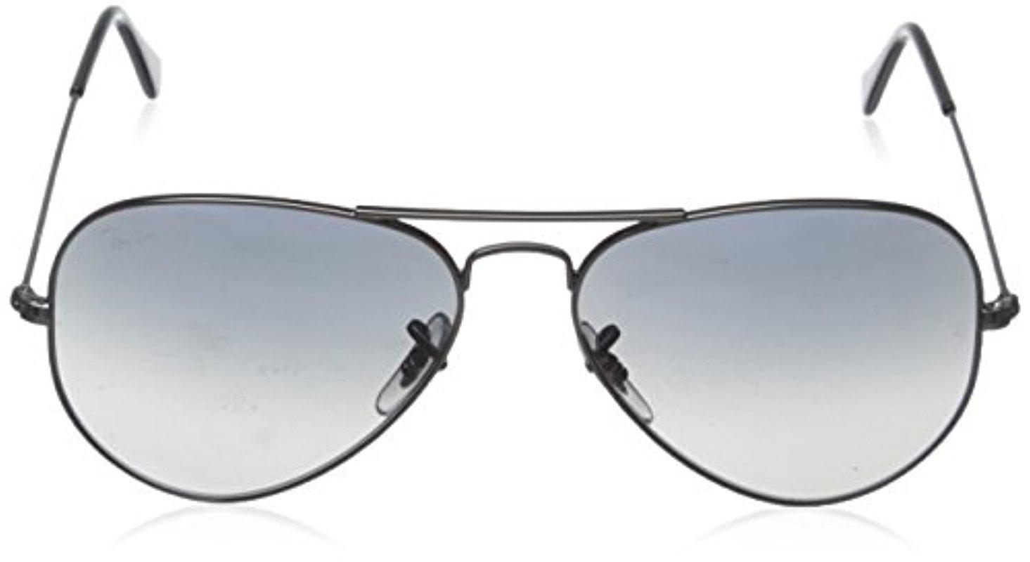 0649c45c4fa52 Lyst - Ray-Ban Aviator Large Metal - Gunmetal Frame Crystal Polar ...