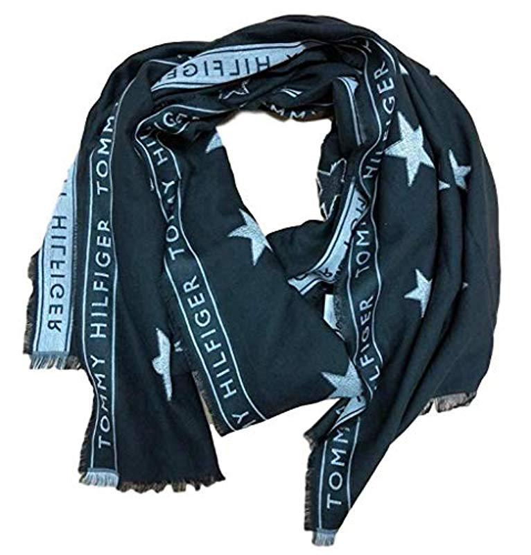 68b15e774b97 Tommy Hilfiger Tommy Selvedge Scarf in Blue - Lyst