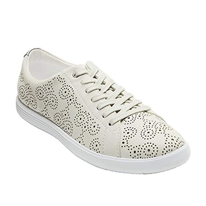 b0e44df1fc0 Cole Haan - White Grand Crosscourt Perforated Sneaker - Lyst. View  fullscreen