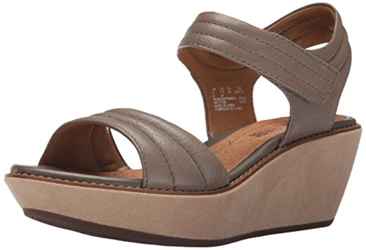 Clarks. Women's Brown Hazelle Alba Wedge Sandal